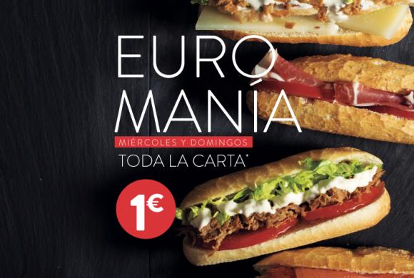 100 MONTADITOS: EUROMANÍA, TODA LA CARTA 1€