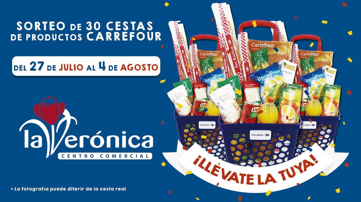 Sorteo 30 Cestas de Compra Carrefour, Centro Comercial La Verónica Antequera