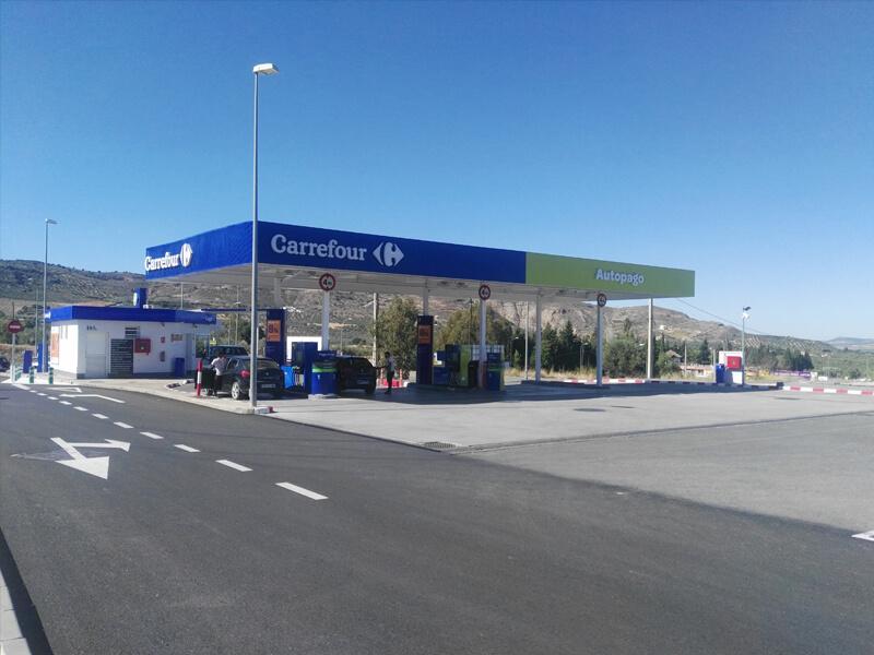 Gasolinera Antequera, Gasolinera Carrefour, Centro Comercial La Verónica