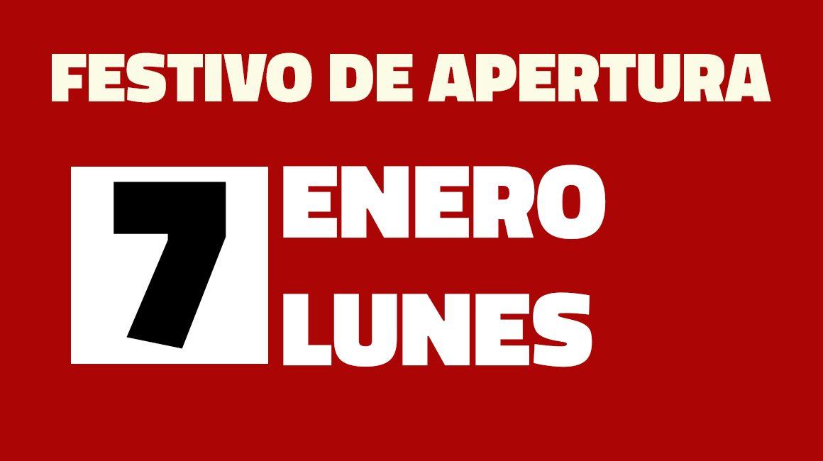 Festivo Apertura 7 Enero 2019, Centro Comercial La Verónica Antequera