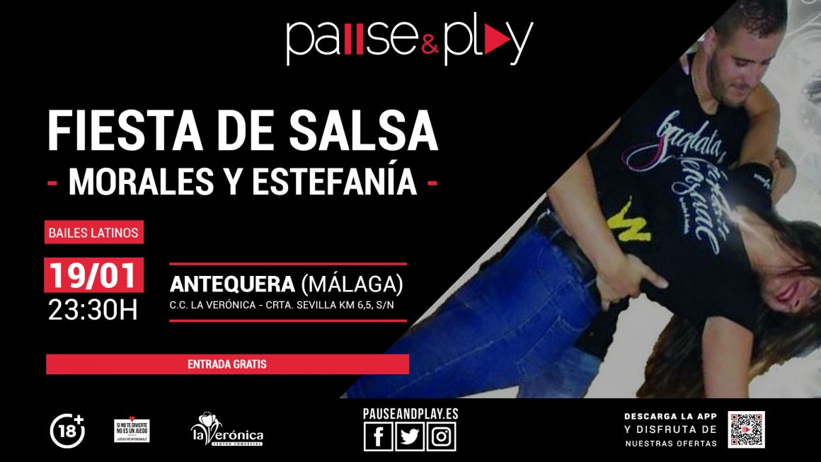 Fiesta de Salsa, Pause And Play, Centro Comercial La Verónica Antequera