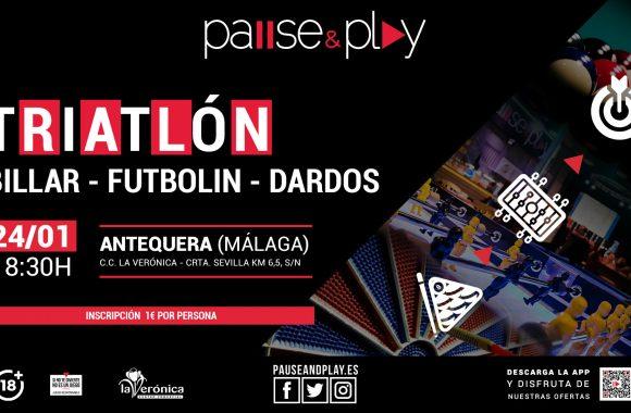 Triatlón Billar, Futbolín y dardos, Pause And Play Centro Comercial La Verónica