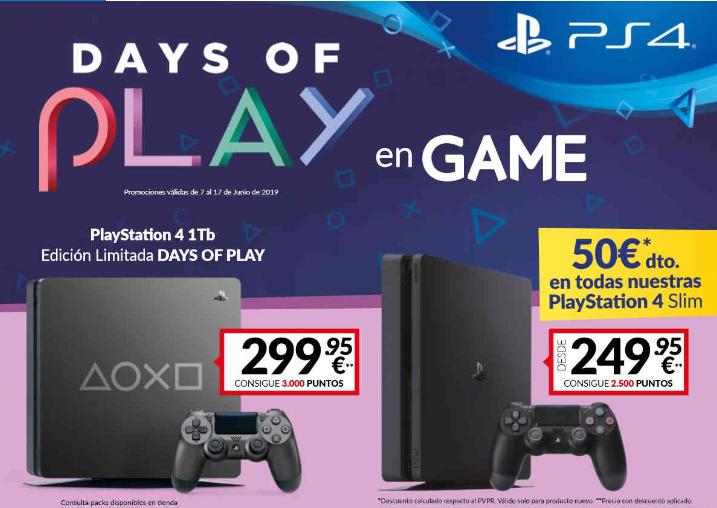PlayStation 4 Slim con el 50% de descuento en Game