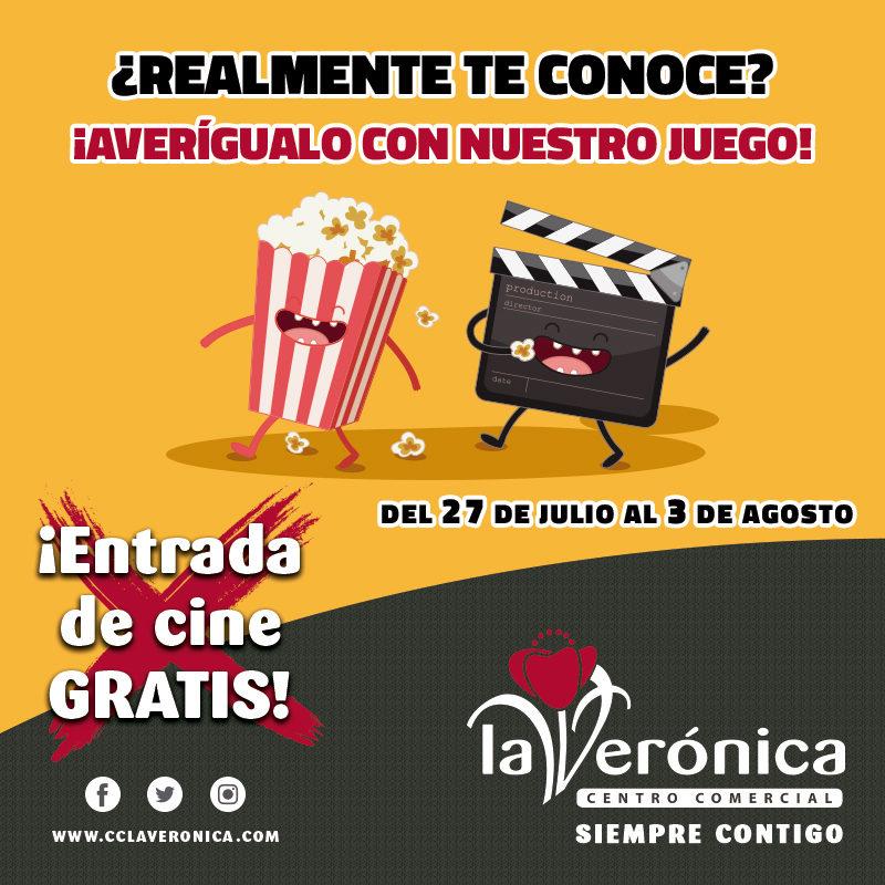 Entradas de Cine Gratis, Cines La Verónica, centro Comercial la verónica