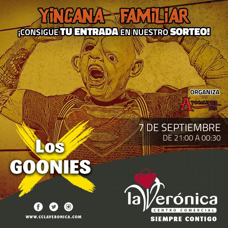 Sorteo Entradas Los Goonies Centro Comercial La Verónica