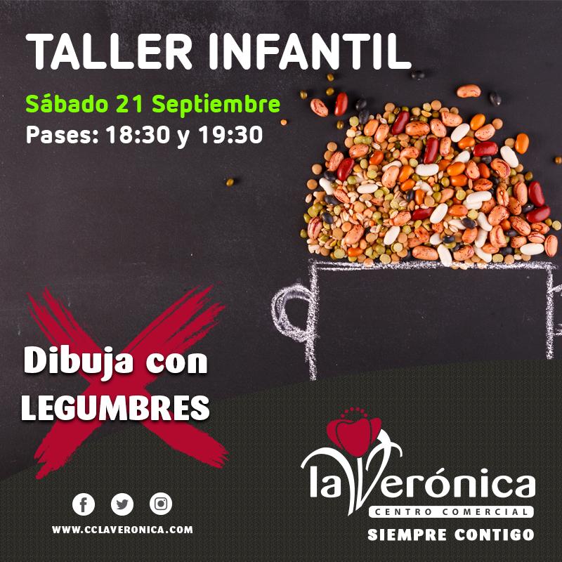 Taller dibuja con legumbres, Centro Comercial La Verónica