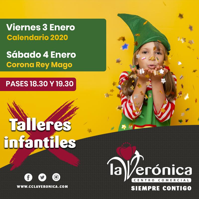 Talleres Infantiles 3, 4 Enero, Centro Comercial La Verónica