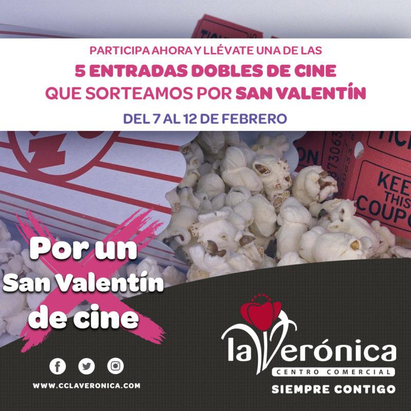Sorteo Entradas Cine San Valentín, Centro Comercial La Verónica