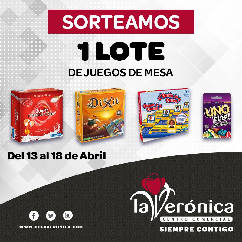 Sorteo Juegos de Mesa, Centro Comercial La Verónica