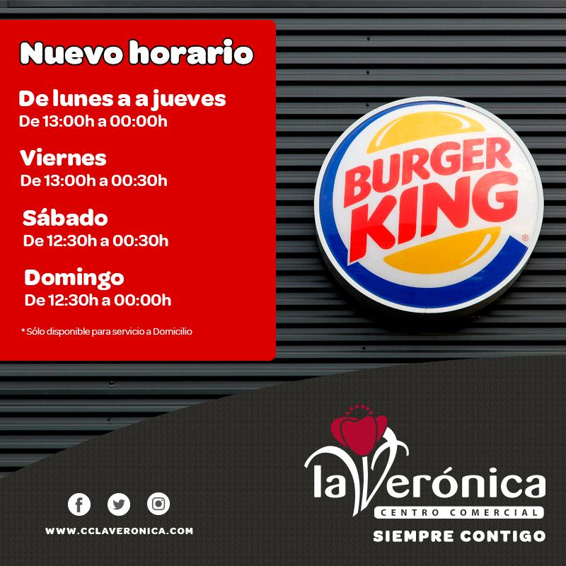 Horario Burger King Antequera, Centro Comercial La Verónica