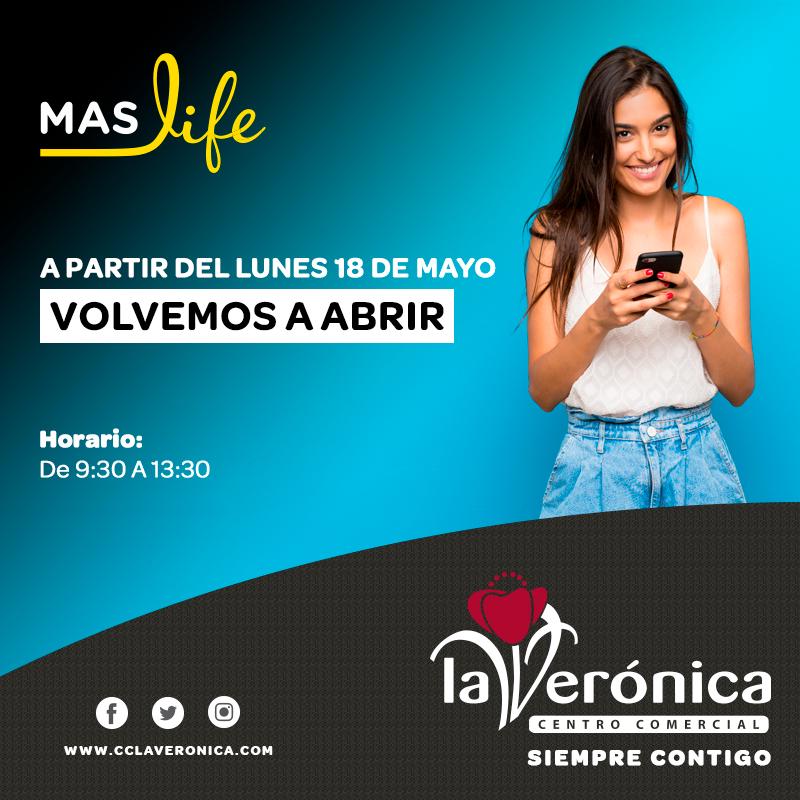 Apertura Maslife, Centro Comercial La Verónica