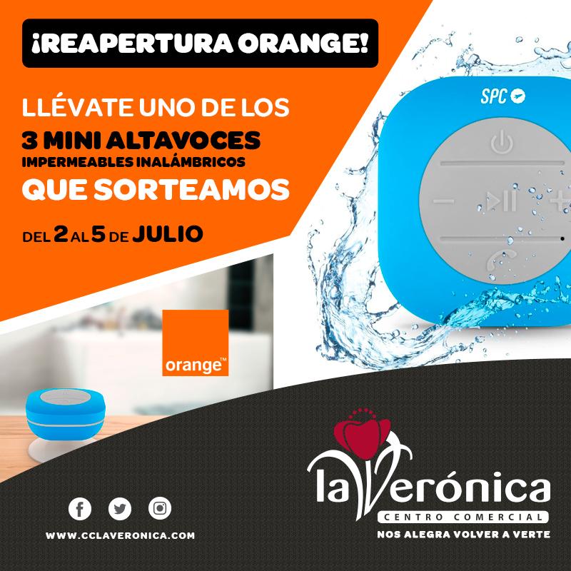 Reapertura Orange, Centro Comercial La Verónica