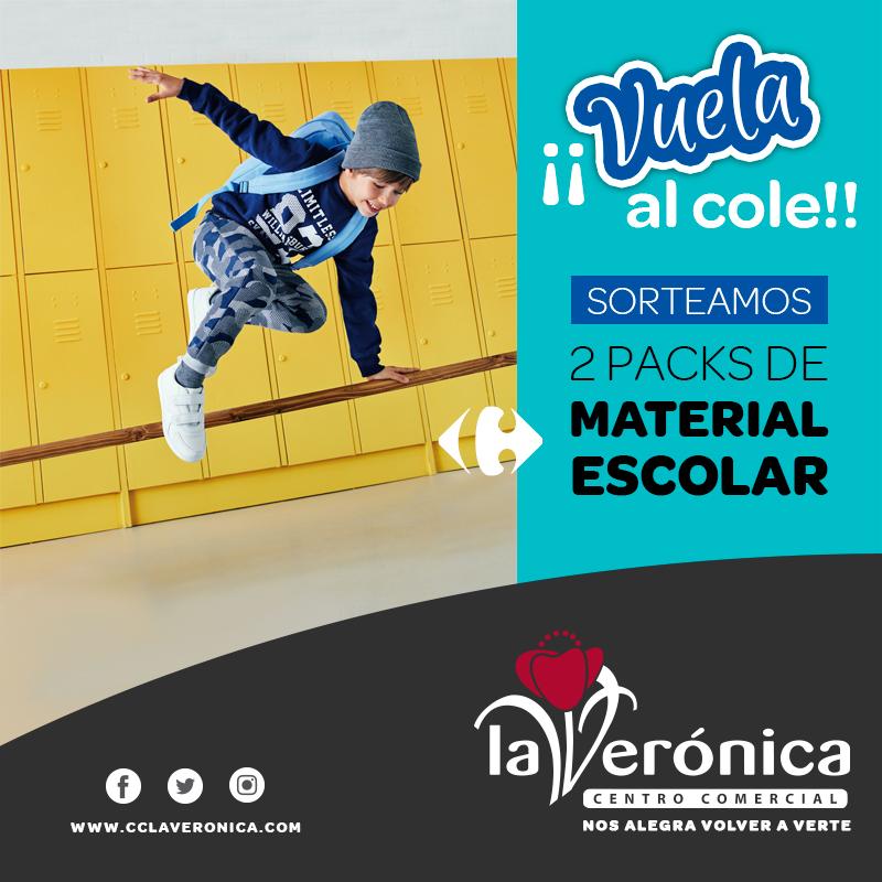 Sorteo Packs Vuela al Cole, Centro Comercial La Verónica