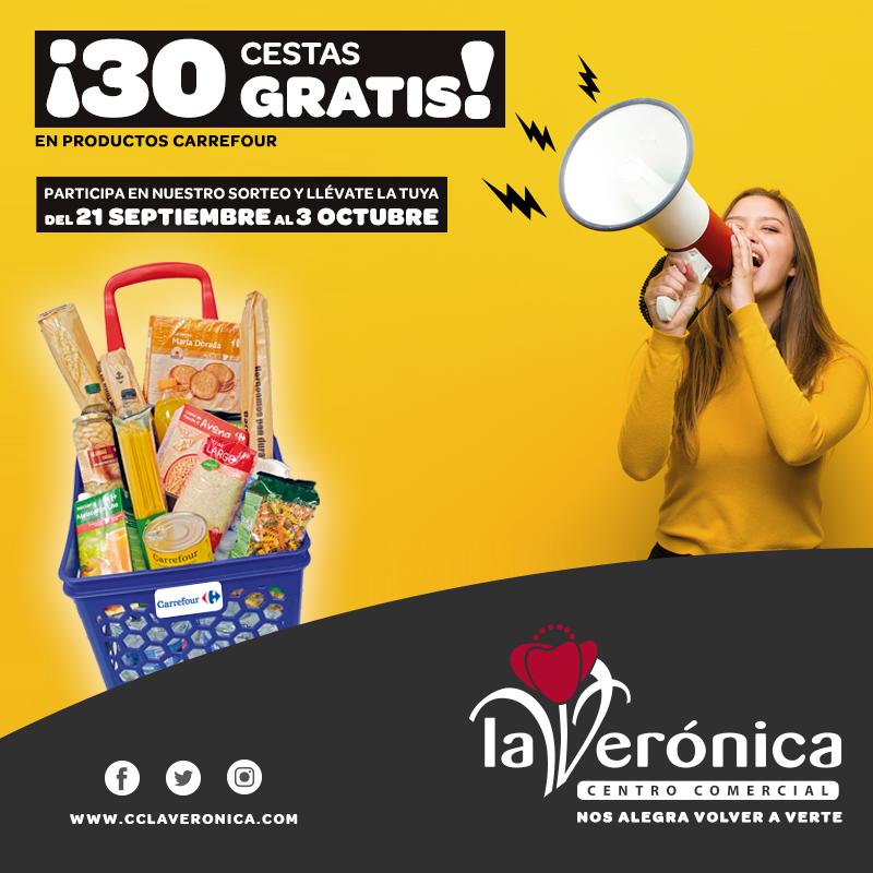 Sorteo Cestas Carrefour, Centro Comercial la Verónica