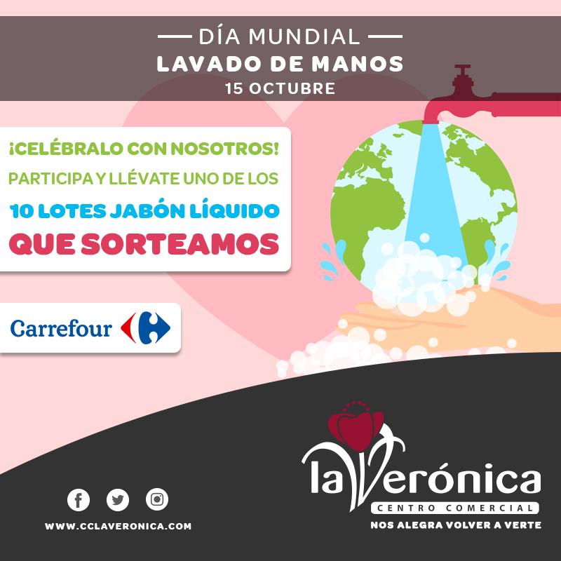 Día Mundial Lavado de Manos, Centro Comercial La Verónica