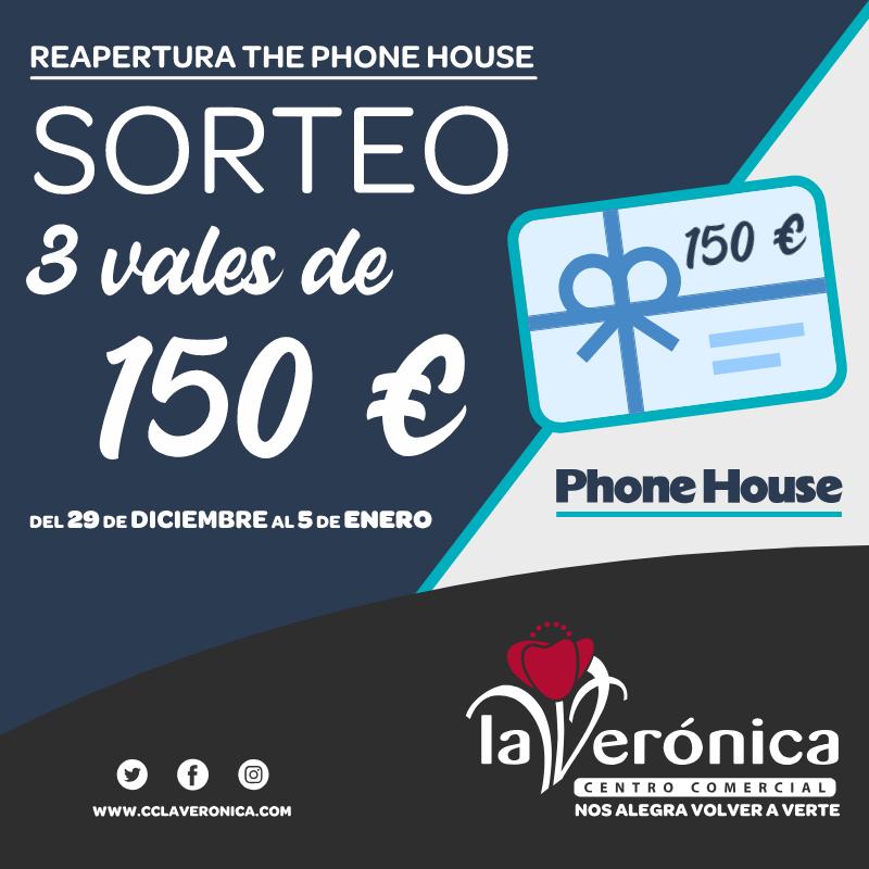 Sorteo reapertura The Phone House, Centro Comercial La Verónica
