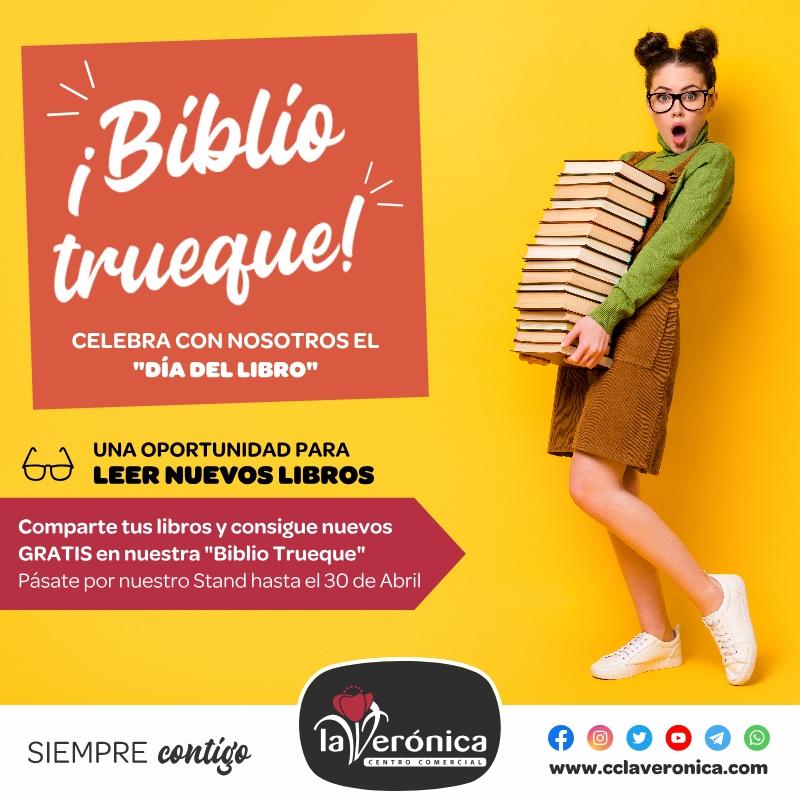 Biblio Trueque Centro Comercial la Verónica, Día del Libro