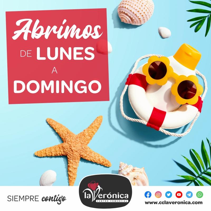 Festivos apertura Verano, Centro Comercial la Verónica