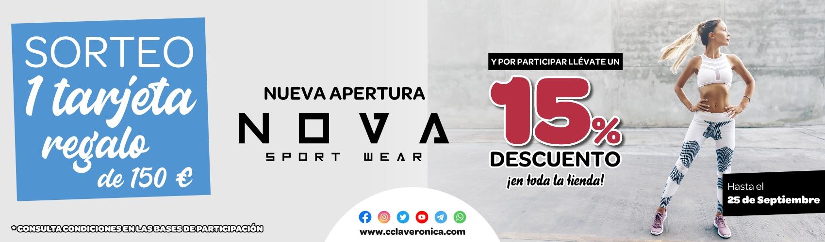 Sorteo tarjeta regalo Nova Sport wear